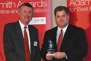 Treasury Today in China, Winner – Richard Parkinson and Michael Guralnick, Citi accepting on behalf of Fred Tang.