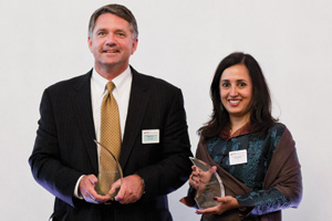 Bank Relationship Management, Winner – John Tus, Vice President and Treasurer from Honeywell accepting on behalf of Jim Colby and Swati Mitra, Citi.