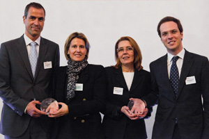 Working Capital Management/Financial Supply Chain, Highly Commended – Javier Pellón, BBVA, Cristina Blanco from Grupo Antolin accepting on behalf of Luis Vega, Esperanza Del Rey and David Marques, RBS Madrid.