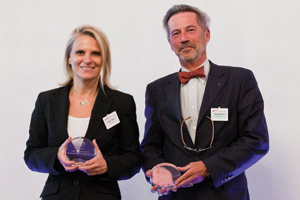 Payables and/or Receivables Solutions, Highly Commended – Valerie Vogler, BNP Paribas and Xavier de Lavit.