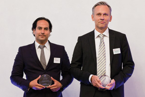 Outstanding Insourcing/Outsourcing, Highly Commended – Patrik Zekkar, SEB and Anders Palm from Sony Ericsson accepting on behalf of Håkan Lundgren.