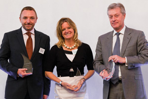 Mid-market Treasury, Winner – Kevin Grant, IT2 Treasury Solutions, Joanna Hawkes and Tim Fitzpatrick, HSBC.