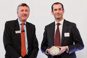 Best Emerging Markets Solution, Highly Commended – Richard Parkinson and Matthew Davies, Bank of America Merrill Lynch accepting on behalf of Nokia Siemens Networks.