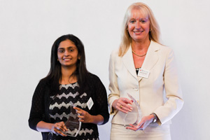 Treasury Today in China, Winner – Shobha Nair from Honeywell accepting on behalf of Pui Yee Lee and Barbara Harrison, Citi.