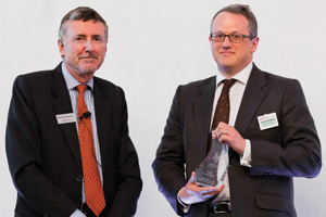 One to Watch, Winner – Richard Parkinson and Jonathon Traer-Clark from Hewlett-Packard accepting on behalf of Andrew Simanek.