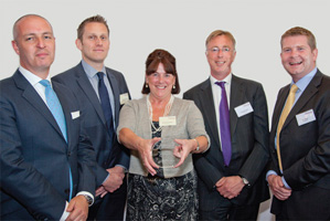 Treasury Today's Top Treasury Team, Highly Commended – Patricia Greenfield, Andrew Marshall and Ian Brimicombe from AstraZeneca and Nick Blake, J.P. Morgan.
