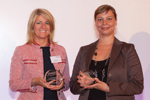 Best Cash Management Solution, Highly Commended – Lesley White, Bank of America Merrill Lynch and Szilvia Zacsovics.