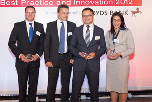 Best Cash Management Solution, Highly Commended – Remko Streng RBS, Andreas Knopf and Damian Preisner, SAP and Maha El Dimachki, Bank of America Merrill Lynch.