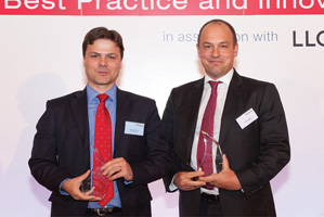 Best Card Solution, Winner – Gonzalo Erroz, Allstate Insurance Co and David Aldred, Citi accepting on behalf of Mark Madeyski.