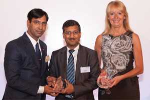 Best in Class Benchmarking, Highly Commended – Manish Kapoor and Alok Bafna from Bharti Airtel and Barbara Harrison, Citi.