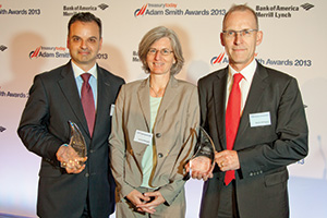 Best AP/AR Solution, Winner – Fabio Sarao, Deutsche Bank, Josiane Farronato and Martin Schlageter from Roche.