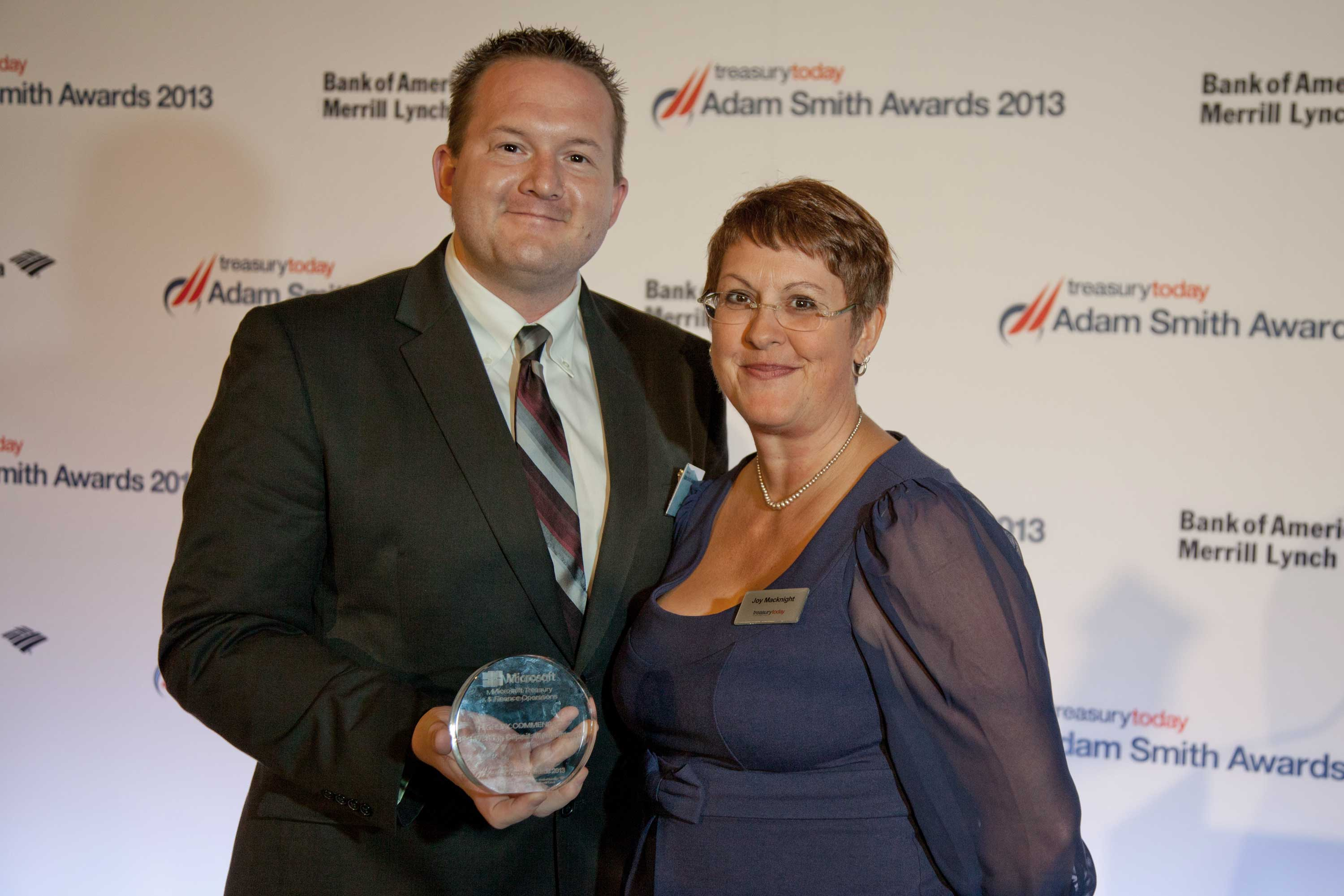 Best Working Capital Management Solution, Highly Commended – Jim Scurlock, Microsoft and Joy Macknight.