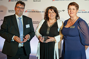 Best AP/AR Solution, Highly Commended – Colin Lowen, RBS, Giuliana Quadernucci, Lambeth Council and Joy Macknight.