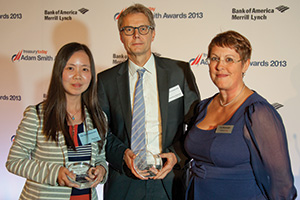 Best Process Re-engineering Solution, Highly Commended – Freya Yao, Honeywell, Sebastian Bechtold, Deutsche Bank and Joy Macknight.