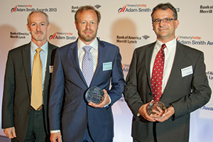 Best Process Re-engineering Solution, Highly Commended – Ken Bogert and Marco Brähler from Roche, Klaus Mueller, SAP.
