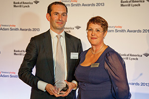 Best MME/SME Treasury Solution, Highly Commended – Matthew Davies, Bank of America Merrill Lynch collecting on behalf of Sheila Johnson and Joy Macknight.