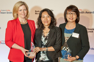 Asia Pacific Regional Award for Best Practice, Winner – Susan Dunne and Ping Chen from Pfizer and Margaret Yao, J.P. Morgan.
