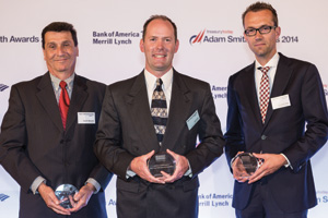 Gary Minoletti of J.P. Morgan, John Coon of Dow Corning and Pascal ter Haak of Bank Mendes Gans.