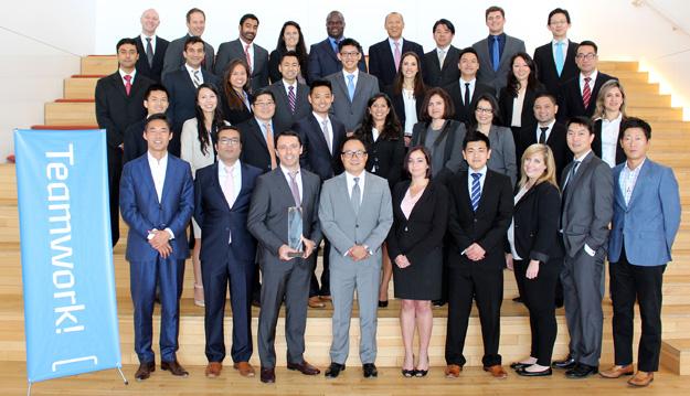 Group photo of the Hyundai Treasury Team