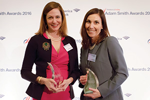 Judges' Choice, Winner – Photo of Patrice Altongy, Citi and Kate Oddo, Toyota Financial Services.