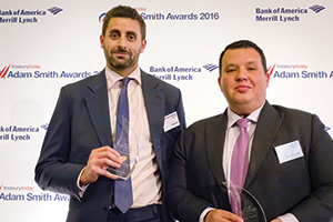Best Cash Management Solution, Winner – Photo of Steve Elms, Citi and Adam Ben Boukadida, Etihad Airways.