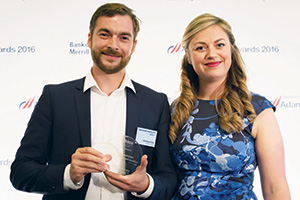 Best Cash Management Solution, Highly Commended – Photo of Christian Forst, adidas Group and Meg Coates.