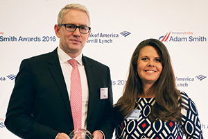 Best Liquidity Management Solution, Highly Commended – Photo of Ciaran Walsh, J.P. Morgan, Meredith Vance, PayPal.