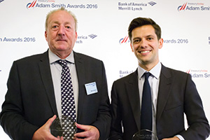 First Class Relationship Management, Highly Commended – Photo of Mark Osborne, Chubb and Adam King, Bank of America Merrill Lynch.