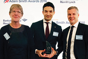 Best Trade Solution, Winner – Photo of Birgitta Berg Wahlström, Kamol Khodjaev and Patrik Marklund, Volvo Cars.