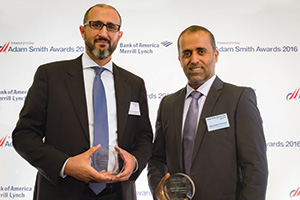 Best Trade Solution, Highly Commended – Photo of Shadi Abdul Hadi Abu Hijleh, Abu Dhabi Commercial Bank and Salem Saeed Al Rumaithi, General Administrations of Customs (Abu Dhabi Customs).