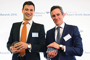 Best Card Solution, Highly Commended – Photo of Olivier Danière, Chopard and Marco Marchi, BNP Paribas.
