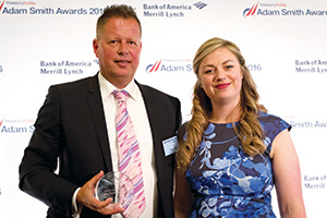 Best Financing Solution, Highly Commended – Photo of Klaas Springer, Royal FrieslandCampina and Meg Coates.