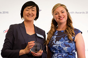 Best Financing Solution, Highly Commended – Photo of Cindy Wang, Toyota Financial Services and Meg Coates.