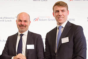 Best Foreign Exchange Solution, Winner – Photo of Magnus Attoff, Ericsson and Ryan Radloff, FiREapps.