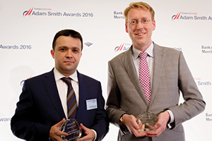 Best Foreign Exchange Solution, Highly Commended – Photo of Salih Fatih Güneş, Türk Telekom and Sander van Tol, Zanders.