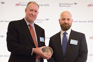 Best Risk Management Solution, Highly Commended – Photo of John Chamberlain and Fred Schacknies, Hilton Worldwide.