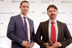 Best Risk Management Solution, Highly Commended – Photo of Duncan Karran, Jaguar Land Rover and James Mitchell, Reval.