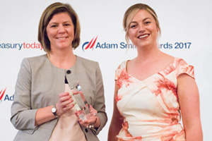 Woman of the Year 2017, Highly Commended – Photo of Christy Barwick, Intellectual Ventures and Meg Coates.