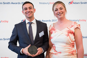 Best Trade/Supply Chain Finance Solution, Highly Commended – Photo of Adnan Al Hendi, Etihad Aviation Group and Meg Coates.