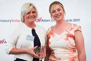Best Cash Flow Forecasting Solution, Highly Commended – Photo of Jayna Bundy, Microsoft and Meg Coates.