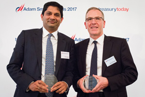 One to Watch, Highly Commended – Photo of Divyesh Modi, Barclays and David O'Rourke, Ornua Co-operative Ltd.