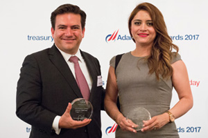 Best SWIFT Solution, Highly Commended – Photo of Martin Barrios, Bank of America Merrill Lynch and Luz María Chávez Alcántar, Grupo KUO.