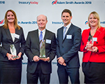 Photo of the Top Treasury Team accepting their award