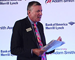 Richard Parkinson speaking at the Adam Smith Awards 2014